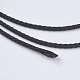 Round Braided Microfiber Leather Cord OCOR-P007-02-2
