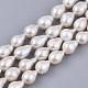 Hebras de perlas keshi de perlas barrocas naturalesPEAR-Q015-019A-01-1