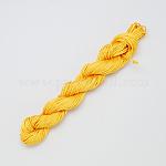 Nylon Thread, Nylon Jewelry Cord for Custom Woven Bracelets Making, Gold, 2mm; about12m/bundle, 10bundles/bag, 120m/bag