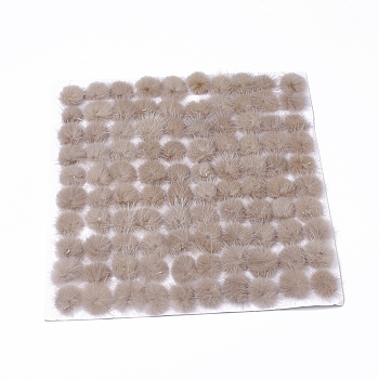 Faux Mink Fur Ball Decoration, Pom Pom Ball, For DIY Craft, Tan, 2~2.5cm