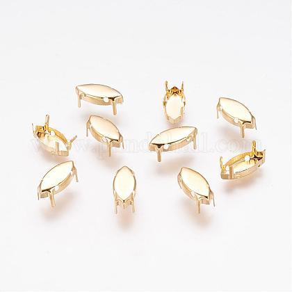 Brass Rhinestone Claw Settings KK-A126-7x15mm-G-1