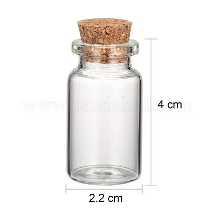 コルク付き透明ガラスボトルウィッシングボトルガラス瓶X-AJEW-H004-7-1