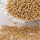 12/0 Electroplate Glass Seed Beads, Round Hole Rocailles, Golden Plated, 2x2mm, Hole: 0.5mm, 29300pcs/445g