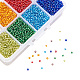Mixed 12/0 Round Glass Seed Beads SEED-PH0006-2mm-12-4