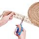 Hilo de soutache de cuerda de cáñamo tejido a mano para decoración.OCOR-WH0031-C01-3