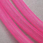 Plastic Net Thread Cord, HotPink, 8mm, 30Yards