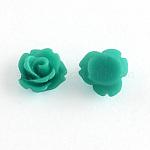 Cabuchones de resina, flor, aguamarina, 10 mm de diámetro, 6.5 mm de espesor, diámetro inferior: alrededor de 7.5~8 mm.