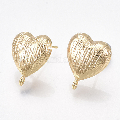 Brass Stud Earring FindingsKK-T038-496G-1