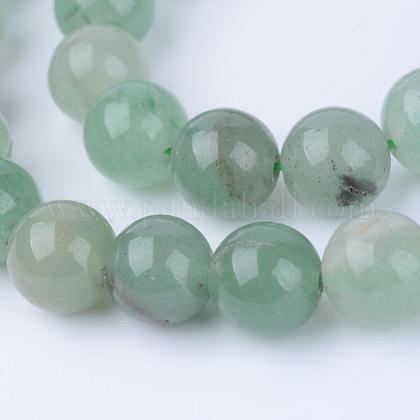 Chapelets de perles en aventurine vert naturelG-Q462-6mm-20-1