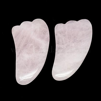 Tablas de gua sha de cuarzo rosa naturalG-S336-55-1