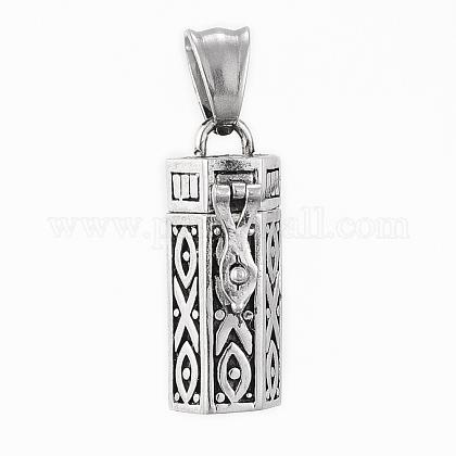 304 Stainless Steel Prayer Box PendantsSTAS-H405-04AS-1