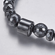 Non-magnetic Synthetic Hematite Mala Beads NecklacesNJEW-K096-11C-2