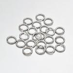 Latón anillos del salto abierto, Platino, 23 calibre, 3x0.6 mm; diámetro interior: 1.2 mm; aproximamente 22727 PC / 500 g