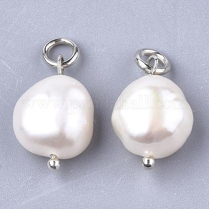 Colgantes naturales de perlas cultivadas de agua dulceX-PEAR-Q013-01B-1