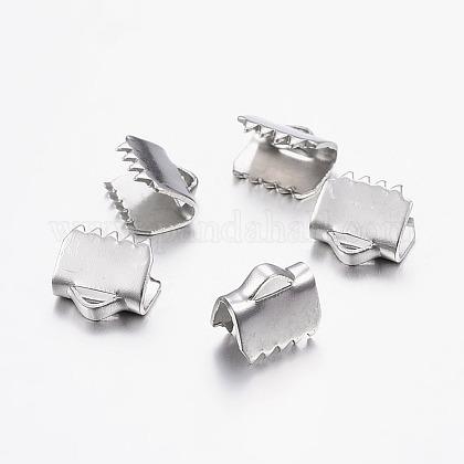 304ステンレス鋼リボンカシメエンドパーツSTAS-I071-11P-B-1