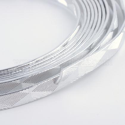 テクスチャード加工されたアルミニウムワイヤーAW-R008-2m-01-1