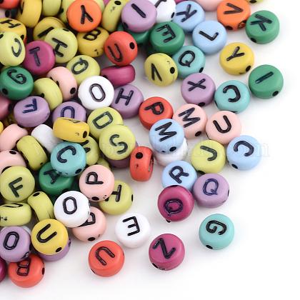 Abalorios de letras de acrílicoMSCR-Q169-02-1