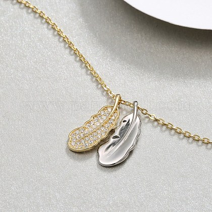 925 Sterling Silver Pendant NecklacesNJEW-BB35309-A-1