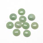 Cabochons naturales aventurina verde, medio redondo / cúpula, 8x4mm