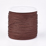 Nylon Thread, Nylon Jewelry Cord for Custom Woven Jewelry Making, SaddleBrown, 0.8mm; about 45m/roll