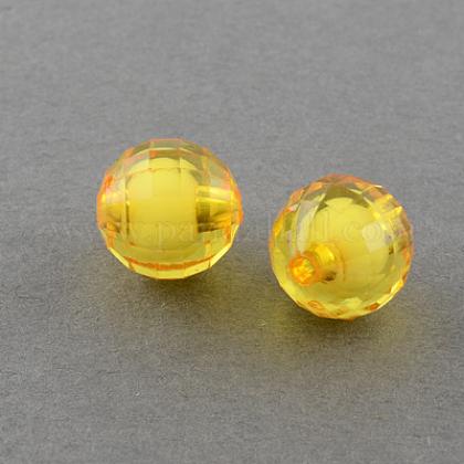 Прозрачные акриловые бусиныX-TACR-S086-08mm-07-1