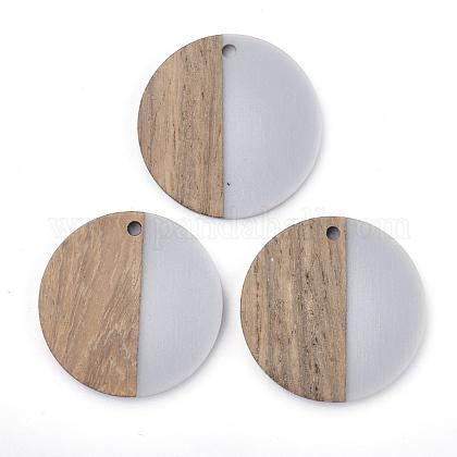 Colgantes de resina y madera de nogalRESI-T023-15A-1
