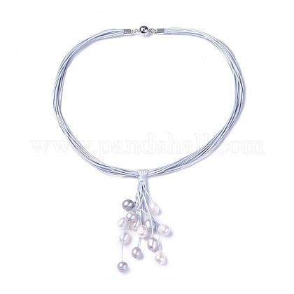 Cordón encerado collares lariatNJEW-L169-01D-1