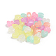 Luminous Acrylic Beads, Glow in the Dark, Heart, Colorful, 8.5x10.5x6.5mm, Hole: 3.5mm