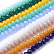 Imitation Jade Glass Beads Strands GLAA-R135-3mm-M1-1