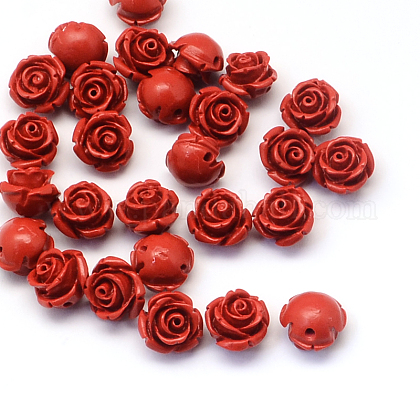 Flower Cinnabar BeadsCARL-Q003-07-1