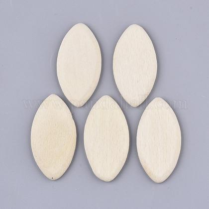 Cuentas de madera de haya sin teñirX-WOOD-N003-001-1