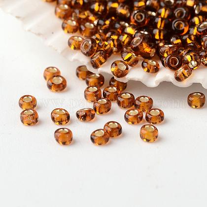 Perles de rocaille rondes en verre fgb® 12/0 transparentes argentéesSEED-A022-F13-54B-1