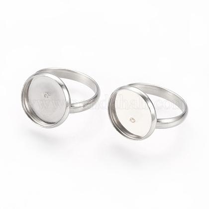 Componentes de anillos de dedo de 304 acero inoxidable ajustablesSTAS-L193-P-14mm-1