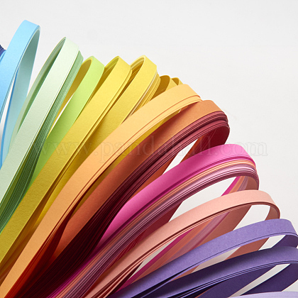 26色長方形クイリングペーパー紙 X-DIY-R041-11-1