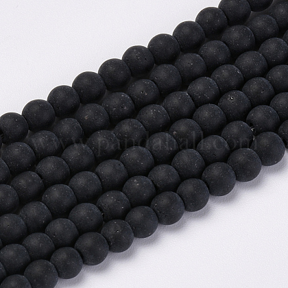 Chapelets de perles en verre transparente  GLAA-Q064-16-4mm-1