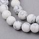 Chapelets de perle en howlite synthétiquesG-Q462-6mm-26-1-1