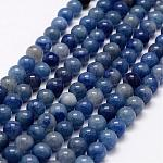 Natural Blue Aventurine Beads Strands, Round, 8mm, Hole: 1mm; about 48pcs/strand, 15.2 inches
