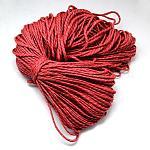 Polyester & Spandex Cord Ropes, FireBrick, 4mm; about 100m/bundle; 420~500g/bundle