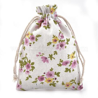 ポリコットン(ポリエステルコットン)パッキングポーチ巾着袋ABAG-S004-04F-10x14-1
