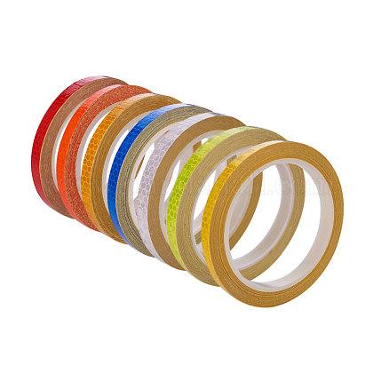 Cinta reflectante de seguridad cinta reflectante color cristal película reflectanteDIY-WH0087-A-M-1