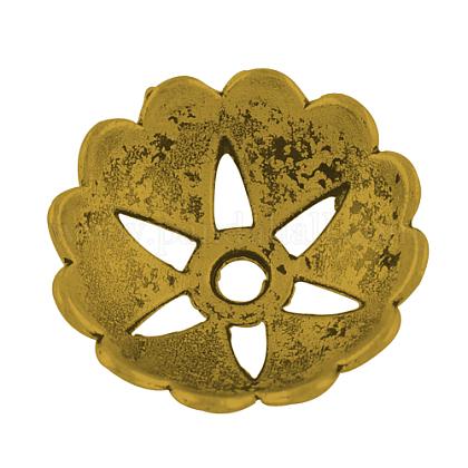 Крышки для бусин тибетского стиляTIBEB-00852-AG-NR-1