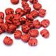 Elephant Cinnabar Beads, FireBrick, 12x14~15x8.5mm, Hole: 2mm