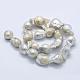 Hebras de perlas keshi de perlas barrocas naturalesPEAR-K004-14-2