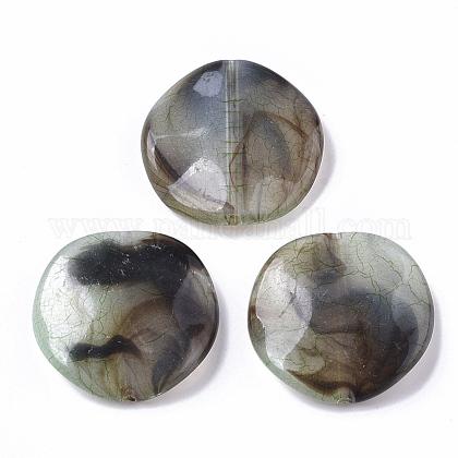 Transparent Crackle Acrylic BeadsCACR-N003-02-1