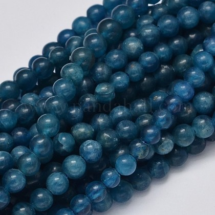Round Natural Apatite Beads Strands G-K068-04-4mm-1