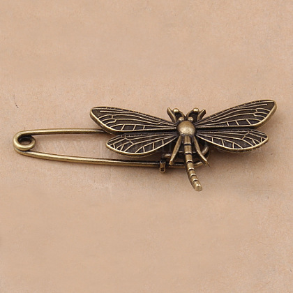 Tibetan Style Alloy Brooches JEWB-N0004-002D-1
