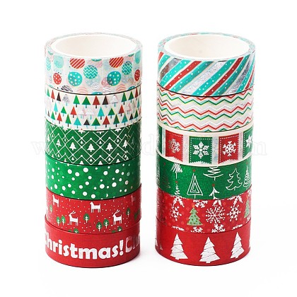 Nastro adesivo decorativo per album fai da te a tema natalizioDIY-CJC0001-12-1