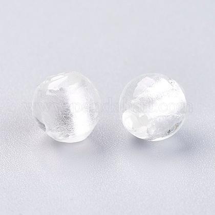 手作り銀箔ガラスビーズSLR8MM09J-1