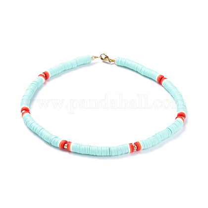Colliers de foulard en perles de polymère faites main en pâte polymèreNJEW-JN02446-03-1