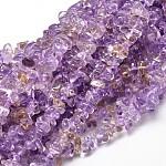 Ametrine naturelle perles de puce brins, 5~14x4~10mm, trou: 1 mm; environ 15.5